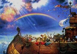 XH. Yaj Zoov Ntxheb lub Tsev THOOB TSIB Noe_rainbow